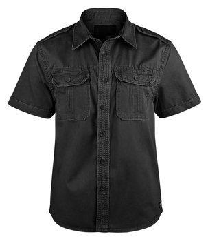 koszula VINTAGE SHIRT SHORTSLEEVE black