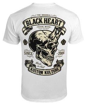 koszulka BLACK HEART - DEVIL SKULL WHITE
