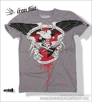 koszulka IRON FIST - HORNED EAGLE (Cloudburst grey)