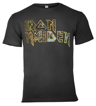 koszulka IRON MAIDEN - EDDIES LOGO ciemnoszara