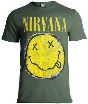 koszulka NIRVANA - WORN QUT SMILEY