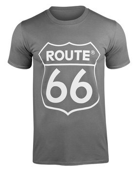 koszulka ROUTE 66 LOGO szara