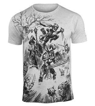 koszulka RPG - LEVEL 99, szary melanż