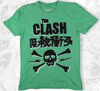 koszulka THE CLASH - SKULL zielona