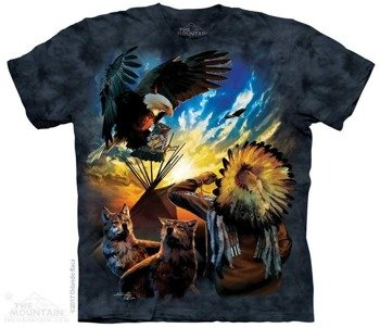 koszulka THE MOUNTAIN - EAGLE PRAYER, barwiona