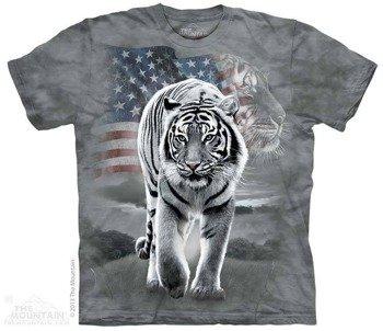 koszulka THE MOUNTAIN - PATRIOTIC TIGER, barwiona
