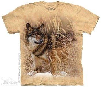 koszulka THE MOUNTAIN - WINTER WOLF PORTRAIT, barwiona
