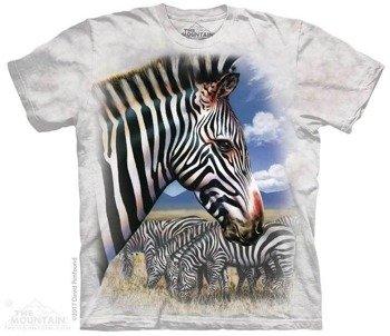 koszulka THE MOUNTAIN - ZEBRA PORTRAIT, barwiona