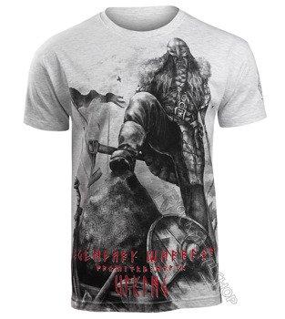 koszulka VIKING - LEGENDARY WARRIOR, szary melanż