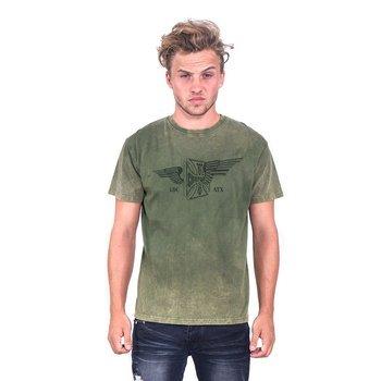 koszulka WEST COAST CHOPPERS - CROSS WING RETRO STONE, barwiona