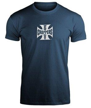 koszulka WEST COAST CHOPPERS - IRON CROSS ATX NAVY