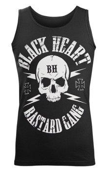 koszulka na ramiączkach BLACK HEART - BASTARD SKULL BLACK