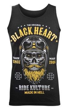 koszulka na ramiączkach BLACK HEART - WHISKERY BLACK