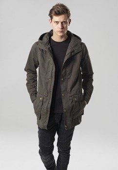 kurtka COTTON PARKA dark olive