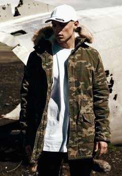 kurtka GARMENT WASHED CAMO PARKA