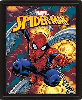 obraz w ramie 3D MARVEL: SPIDERMAN - COSTUME BLAST