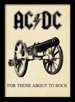 obraz w ramie AC/DC - FOR THOSE ABOUT TO ROCK