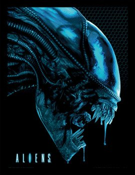 obraz w ramie ALIEN - HEAD BLUE