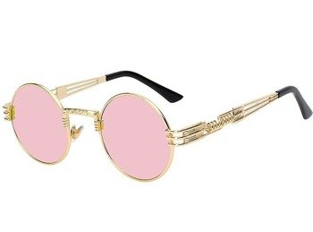 okulary LENONKI STEAMPUNK RETRO PINK