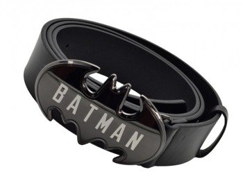 pasek z klamrą BATMAN - LOGO, skóra ekologiczna