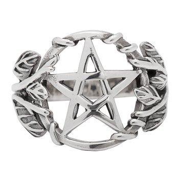 pierścień GOTHIC PENTAGRAM, srebro 925
