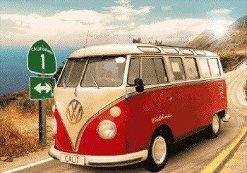 plakat 3D VW CALIFORNIAN CAMPER