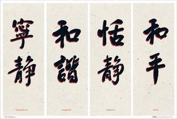 plakat CHIŃSKIE ZNAKI - CHINESE WRITING