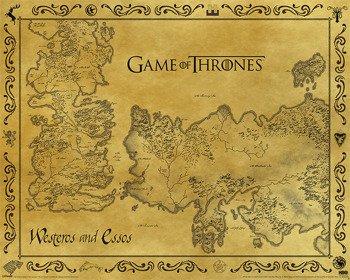 plakat GAME OF THRONES- ANTIQUE MAP