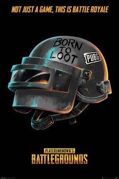 plakat PUBG - BORN TO LOOT