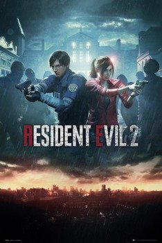 plakat RESIDENTAL EVIL 2- CITY KEY ART