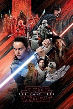 plakat STAR WARS - RED MONTAGE