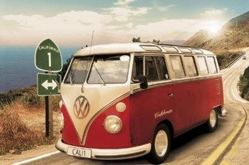 plakat VW CALIFORNIAN CAMPER