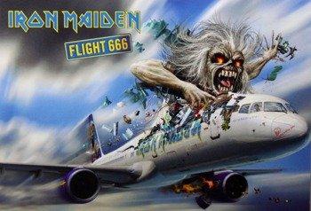 pocztówka IRON MAIDEN - FLIGHT 666