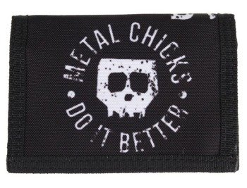 portfel METAL CHICKS DO IT BETTER - SKULL