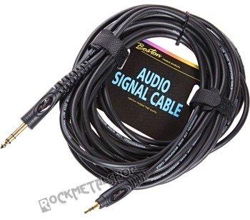 przewód audio BOSTON: DUŻY JACK (6.3mm) stereo - MAŁY JACK (3.5mm) stereo / 9m