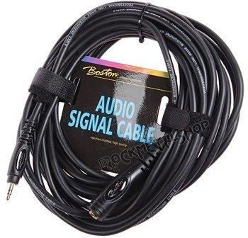 przewód audio BOSTON: gniazdo DUŻY JACK (6.3mm) stereo - mały jack (3.5mm) stereo / 9m