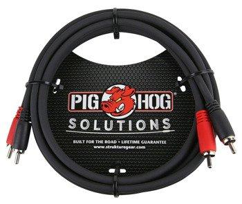 przewód audio PIG HOG PD-RCA06 / 2 x RCA (cinch) - 2 x RCA (cinch) / 1,8m
