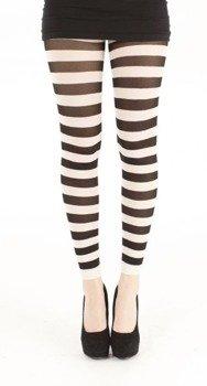 rajstopy TWICKERS FOOTLESS white/black