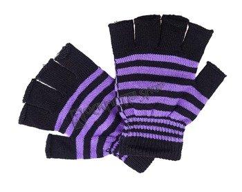 rękawiczki POIZEN INDUSTRIES - BLACK PURPLE, bez palców