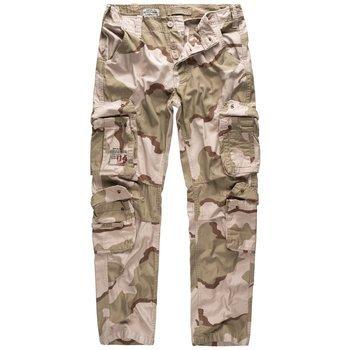 spodnie bojówki AIRBORNE VINTAGE TROUSERS SLIMMY 3-COLOR-DESERT