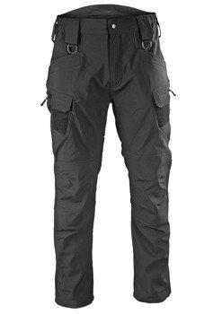 spodnie bojówki SOFTSHELL HOSE 'ASSAULT' BLACK