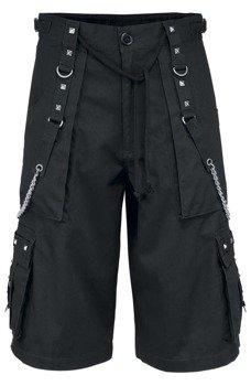 spodnie bojówki krótkie CHAIN SHORT - BLACK
