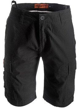 spodnie bojówki krótkie WEST COAST CHOPPERS - INDUSTRIAL BLACK