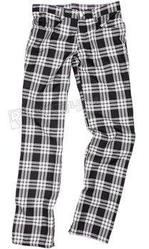 spodnie unisex TARTAN PANTS BLACK/WHITE