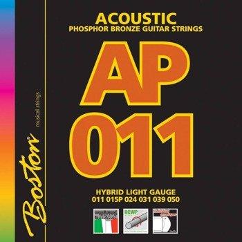 struny do gitary akustycznej BOSTON AP-11 PHOSPHOR BROZNE /011-050/
