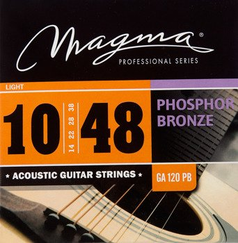 struny do gitary akustycznej MAGMA GA120PB Phosphor Bronze / Light /010-048/