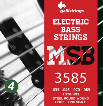 struny do gitary basowej GALLI STRINGS - MAGIC SOUND MSB3585 HEXAGONAL /035-085/