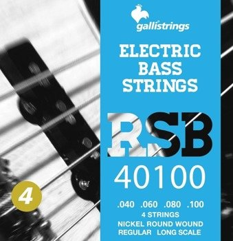 struny do gitary basowej GALLI STRINGS - ROCK STAR RSB40100 NICKEL WOUND /040-100/