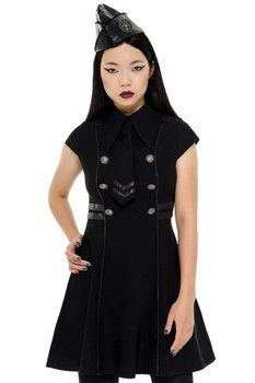 sukienka KILLSTAR - BLACK-OPS (BLACK)