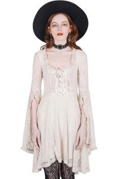 sukienka KILLSTAR - KILLING KISSES (IVORY)